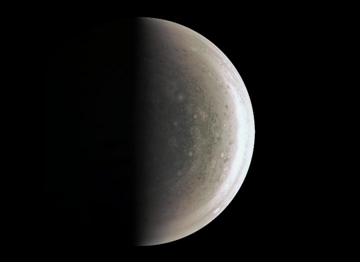 Jupiter image from Juno