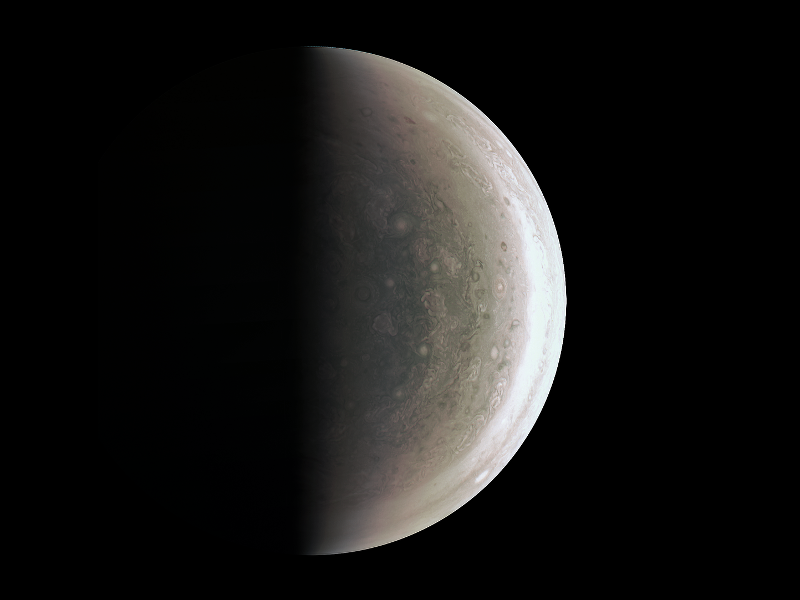 Jupiter image from Juno