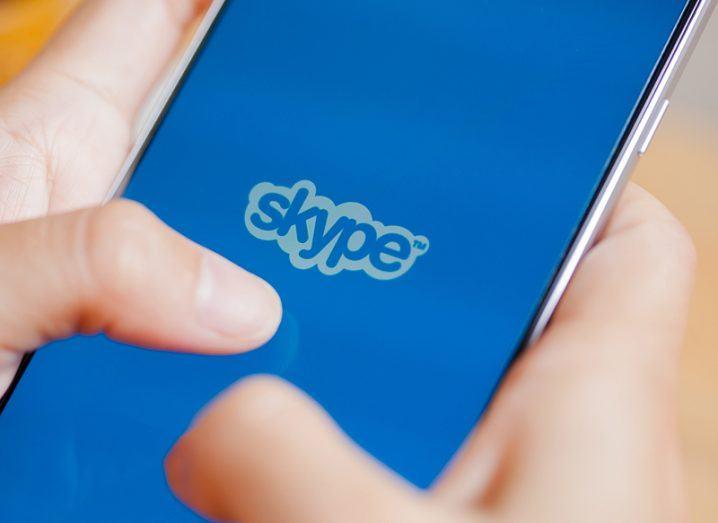 Skype logo phone