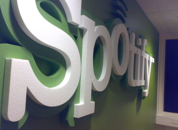 Spotify sign