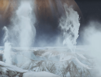 Possible water plumes erupting on surface of Europa