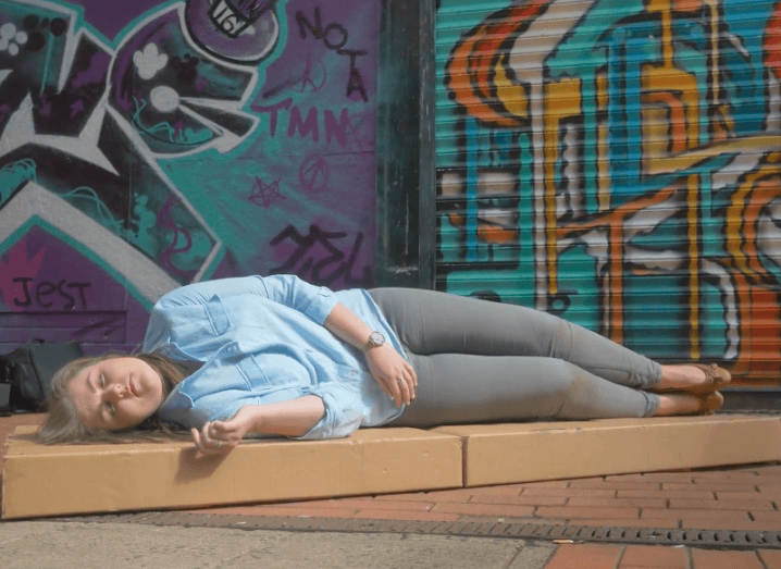 Em-Bed cardboard bed for crisis situations