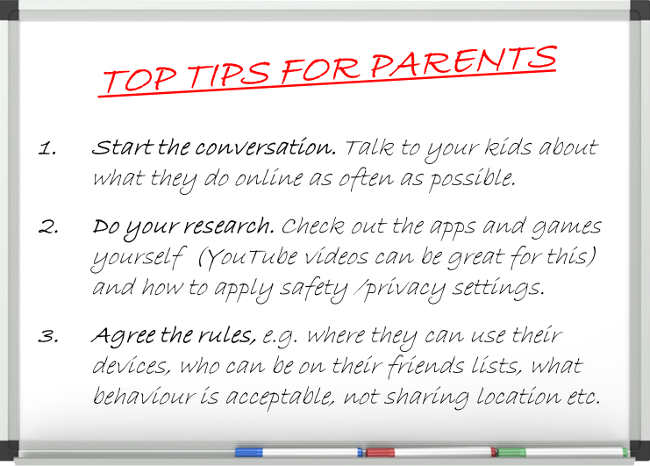 CyberSafeIreland tips for parents
