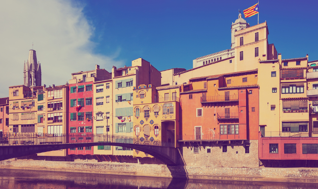 Smart cities. View of Girona. Image: Iakov Filimonov/Shutterstock