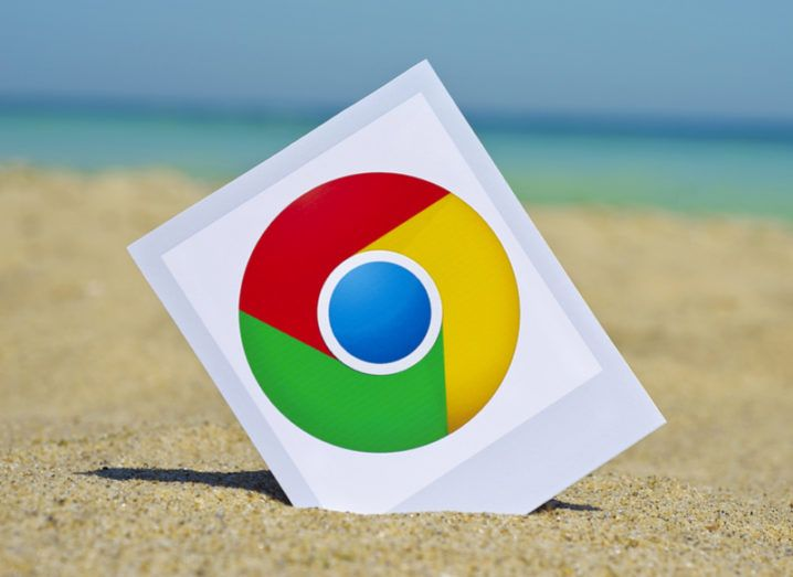 Chrome browser in sand