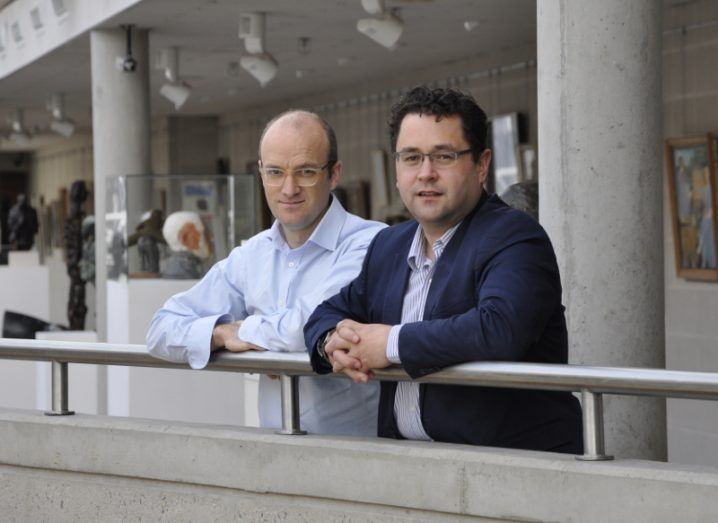 From left: Dr Adam de Eyto, head of UL's school of design and Dr Leonard O'Sullivan, senior lecturer in design ergonomics at UL and Health Research Institute member. Image: UL