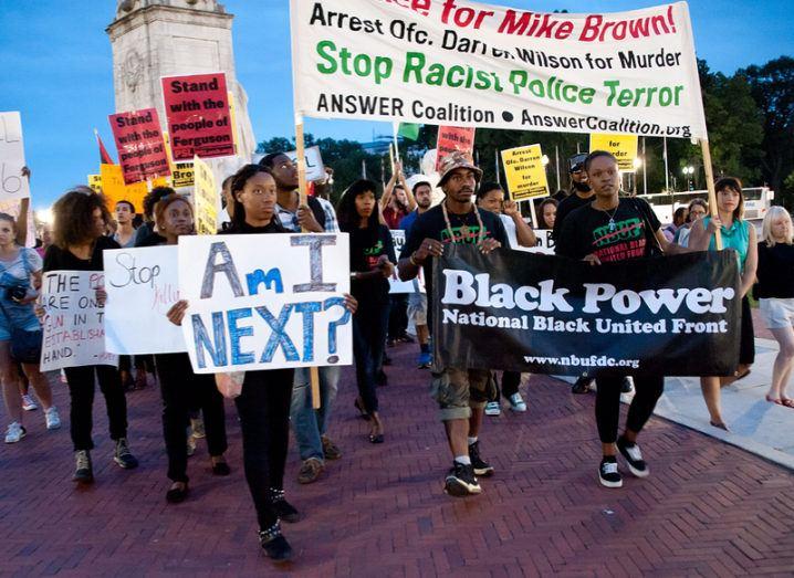 Facebook Ferguson protest
