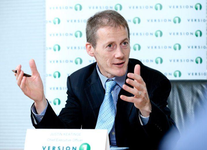 Justin Keatinge, Version 1 CEO