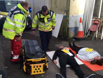 Mobile comms tested in simulated stadium crush in Cork