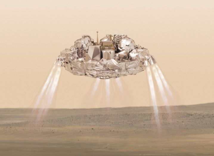 Illustration of Schiaparelli's descent. Image: ESA/ATG medialab