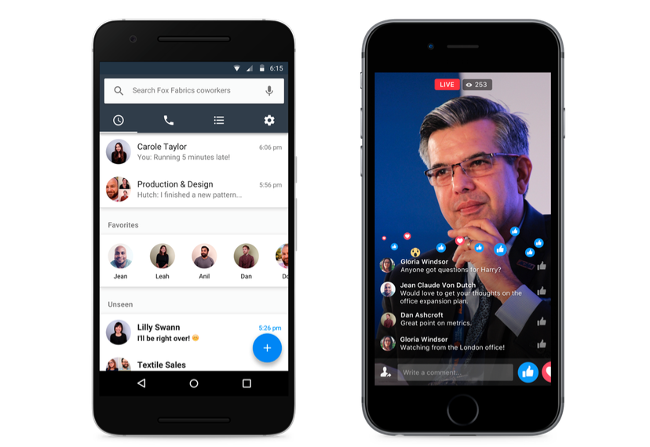 Facebook goes live with its Slack and email killer Workplace
