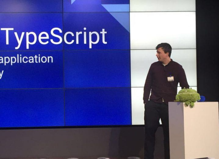 Remo H Jansen delivers a talk on TypeScript