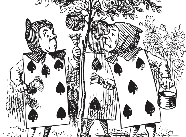 Maths: Alice in Wonderland playing cards