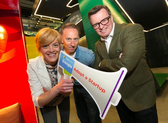 Pictured at the launch of Google's 2017 Adopt a Startup programme, from left: Sorcha O'Grady, director of sales at Truckscience; Ian Harkin, MD of Arklu; Richie Spence, founder of Beutifi.com. Image: Shane O'Neill Photography