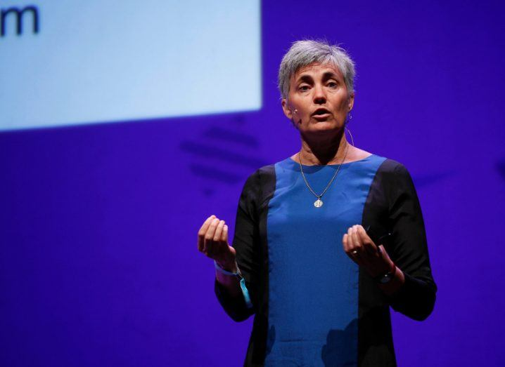 Robin Chase, co-founder of Zipcar, speaking at Inspirefest 2016. Image: Conor McCabe Photography