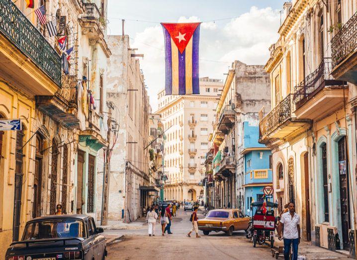 Cuba Google flag