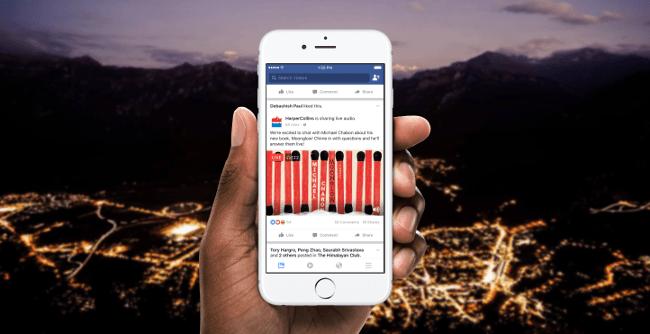 Facebook reveals Live Audio platform