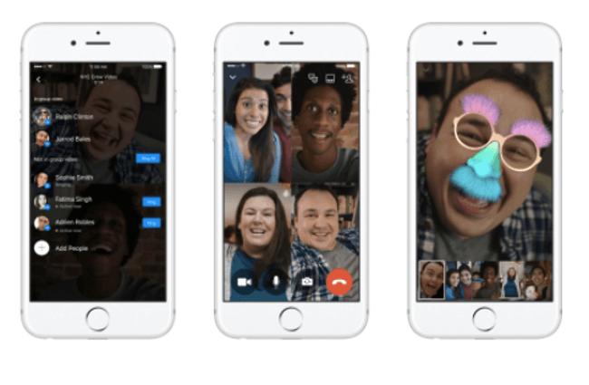 Facebook Messenger reveals group video with Snapchat-like selfie filters