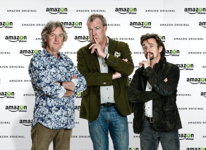 The Grand Tour presenters (from left) James May, Jeremy Clarkson and Richard Hammond. Image: Amazon