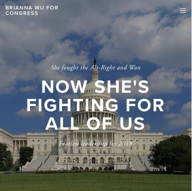 Video game developer Brianna Wu plans to run for US Congress