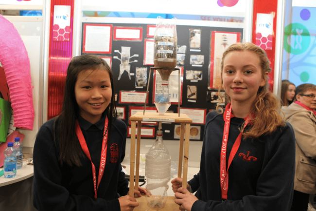 Xiangyu Carbon Mallol and Méabh Scahill from Sutton Park School