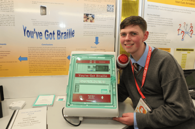 Thomas Sims, Scoil Dara, with his BTYSTE project