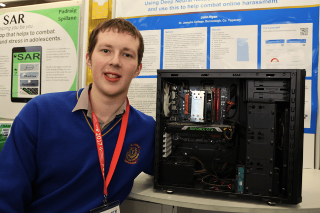 BTYSTE multi-award-winner John Ryan from St Joseph's College