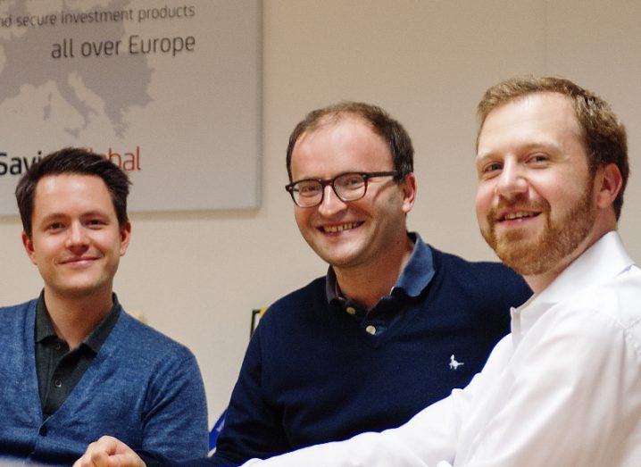 Raisin founders Michael Stephan, Dr Tamaz Georgadze and Dr Fran Freund. Image: Raisin