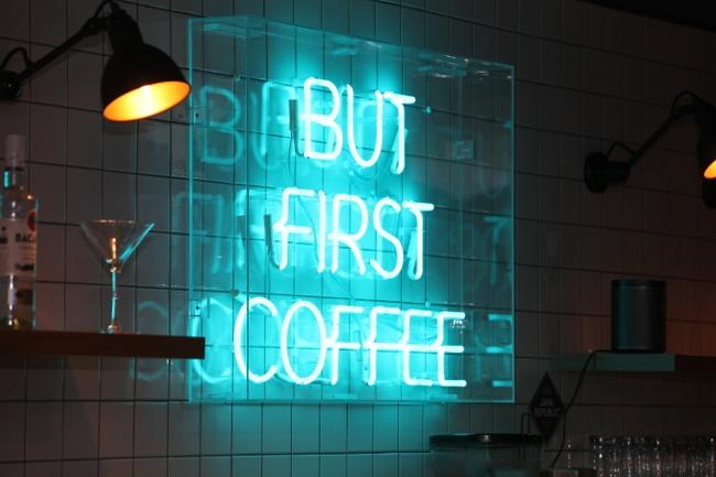 Slack: coffee-loving sign