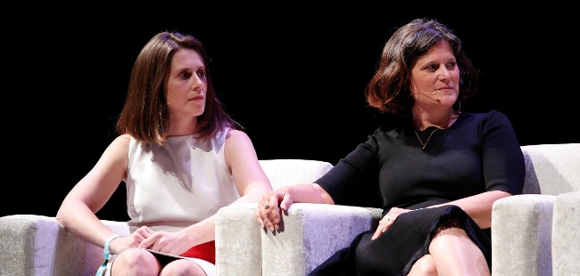 Astia Angels' Victoria Pettibone and Sharon Vosmek spoke at Inspirefest last year. Image: Conor McCabe Photography