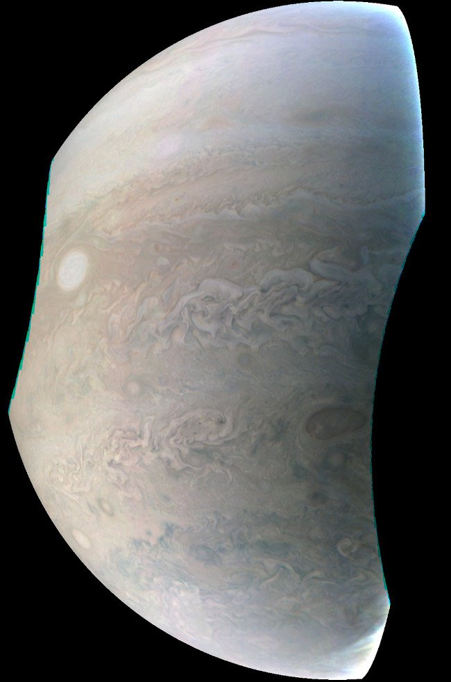 Jupiter's pearls. Image: NASA/JPL-Caltech/SwRI/MSSS