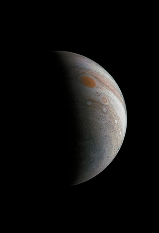 Jupiter's Great Red Spot. Image: NASA/JPL-Caltech/SwRI/MSSS/Roman Tkachenko