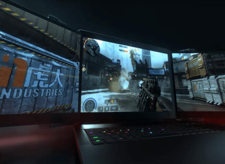 Triple screen laptop Razer