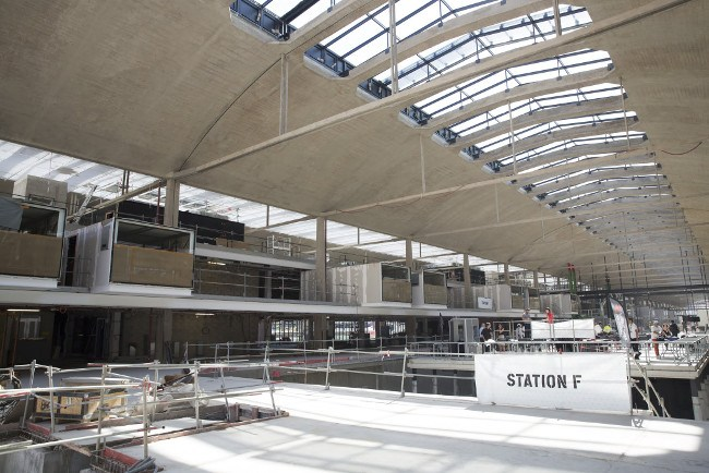 Station F interior. Image: Station F