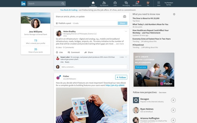 LinkedIn finally redesigns its desktop site