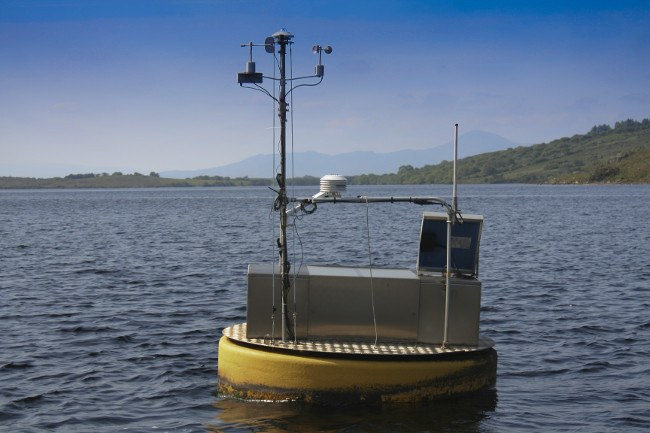 Close up of device on Lough Feeagh. Image: Marine Institute