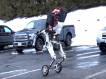 Boston Dynamics moves from feet to wheels with jumping Handle bot