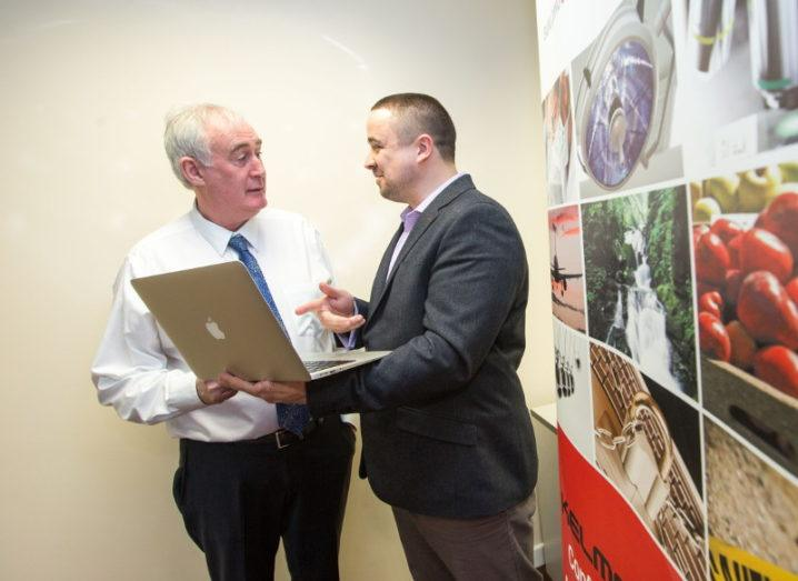 From left: Gerard Kelly, CEO of Kelmac Group and Dr Noel Carroll, research fellow at Lero. Image: Sean Curtin True Media