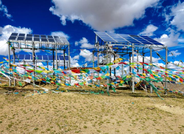 Solar panels Tibet