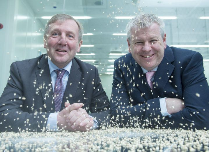 Minister for Agriculture, Food and the Marine, Michael Creed, TD, with Dr Alan O'Riordan, research fellow at Tyndall National Institute. Image: Gerard McCarthy