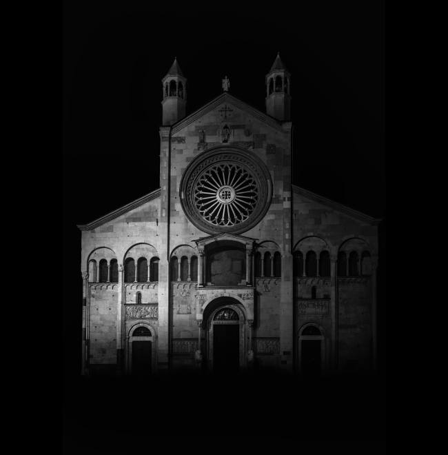 Modena Cathedral is a Roman Catholic cathedral in Modena, Italy, dedicated to the Assumption of the Virgin Mary and Saint Geminianus. Consecrated in 1184, it is an important Romanesque building in Europe and a World Heritage Site. Image: Alessandro Piredda, Italy, Shortlist, Professional, Architecture (professional), 2017 Sony World Photography Awards