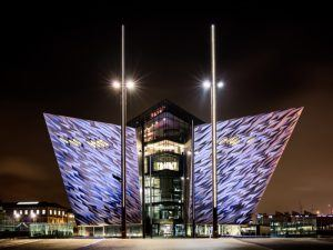 Belfast's Titanic museum. Image: James Kennedy NI/Shutterstock