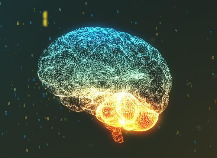 Brain and computer. Elon Musk