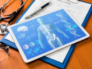 Medtech data on tablet computer