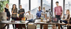 Employer brand: happy team