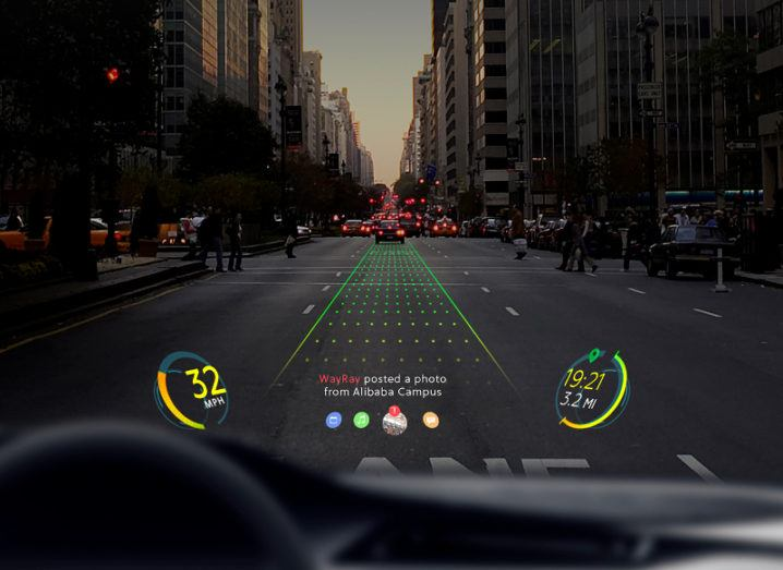 WayRay develops holographic dashboard displays. Image: WayRay
