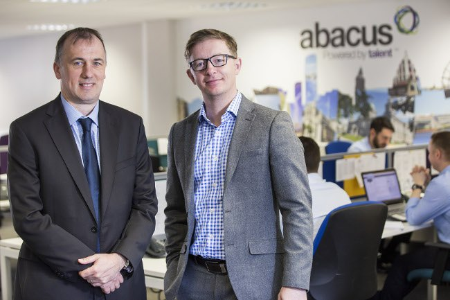 Northern Ireland salaries. From left: Abacus directors Alan Braithwaite and Justin Rush. Image: Abacus