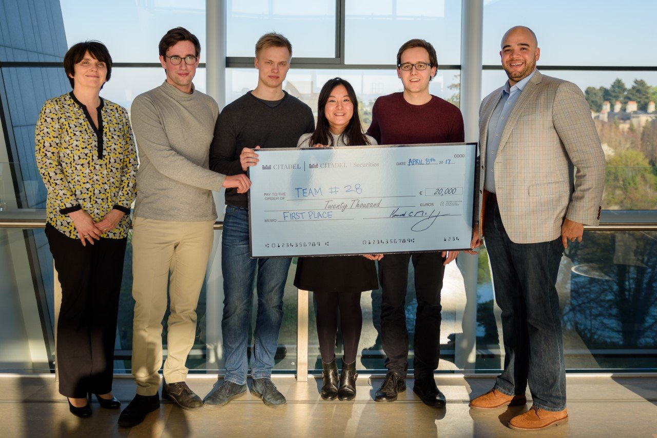 Student winners of Dublin Datathon take €25,000 prize