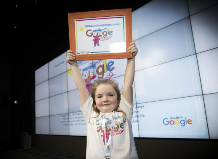 Erica Redmond and her winning Doodle. Image: Conor McCabe Photography