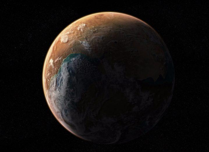 Illustration of an Earth like planet
